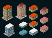 Isometric Building Royalty Free Stock Photo