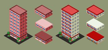 Isometric Building Stock Images