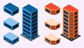 Isometric Building Stock Photo