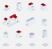 Isometric of building set Stock Image