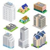 Isometric Building Vector set of big city Stock Photo