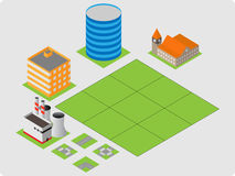Isometric buildings Stock Photography