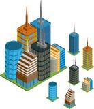 Isometric buildings Stock Photos