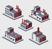 Isometric buildings Royalty Free Stock Photography