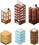 Isometric buildings 2 Royalty Free Stock Photography