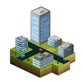 Isometric buildings Stock Images