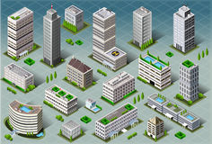 Isometric Buildings Stock Image