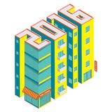 Isometric buildings in the form of 2016. Building icon isolated on a white background. Isometric vector illustration royalty free illustration