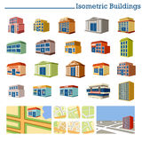 Isometric Buildings and maps. Stock Image