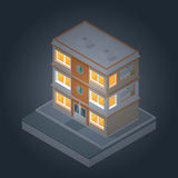 Isometric Buildings Set 2 Stock Photo