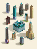 Isometric buildings. Stock Images
