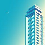 Isometric buildings Skyscraper, cityscape, cityscene. construction vector illustration royalty free illustration