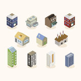 Isometric buildings. Uses to make your platform Stock Photo
