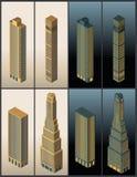 Isometric buildings - vector Stock Photo