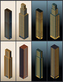 Isometric buildings - vector Stock Photography