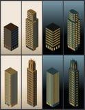 Isometric buildings - vector Stock Photos