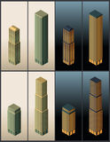 Isometric buildings - vector Stock Image