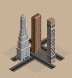 Isometric buildings - vector royalty free illustration
