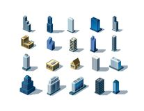 Isometric buildings Royalty Free Stock Image