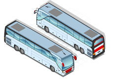 Isometric bus. In two position Stock Photography