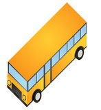 Isometric bus school. Represent a yellow bus in isometric shape Royalty Free Stock Photo