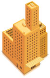 Isometric Business Big Building. Illustration of a cartoon isometric high business office building or factory tower plenty of windows and floors Stock Photos