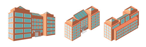 Isometric business center. Modern 3d home plan. Isolated Vector illustration. Royalty Free Stock Image