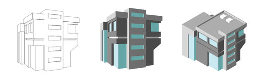 Isometric business center. Modern 3d home plan. Isolated Vector illustration. Isometric business center. Modern home plan. Vector illustration Royalty Free Stock Image