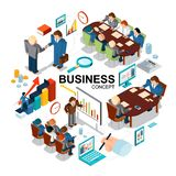 Isometric Business Concept royalty free illustration