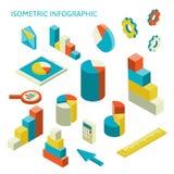 Isometric business finance analytics, chart Stock Image