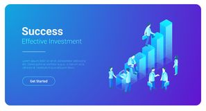 Isometric Business Finance Statistics Charts Peopl. Isometric Business Finance Analytics Statistics Charts with People standing vector illustration Royalty Free Stock Image