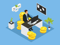 Isometric Business Financial Concept Royalty Free Stock Photos