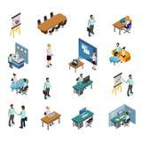 Isometric Business Icons Set. Isometric Business People Icons Set Vector Illustration Stock Photography