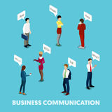 Isometric Business People Communication Concept Stock Photos