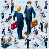 Isometric Business People Icon Isolated Set Vector Illustration Royalty Free Stock Photography