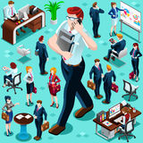 Isometric Business People Isolated Icon Set Vector Illustration Stock Photography