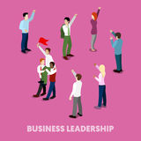 Isometric Business People Leadership Concept. Vector 3d flat illustration Stock Photo