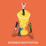 Isometric Business People Motivation Concept. Vector 3d flat illustration Royalty Free Stock Photo