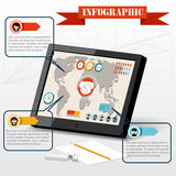 Isometric business social infographics people PC Royalty Free Stock Photography