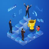 Isometric Business Team Success Concept royalty free stock image