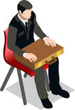 Isometric Businessman Sale Lead Bank Stock Images