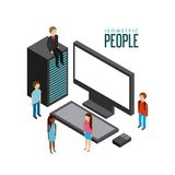 Isometric businesspeople design. Illustration eps10 graphic Stock Photography