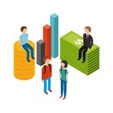 Isometric businesspeople design. Illustration eps10 graphic Royalty Free Stock Photos