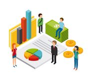 Isometric businesspeople design. Illustration eps10 graphic Royalty Free Stock Image