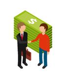 Isometric businesspeople design. Illustration eps10 graphic Stock Image