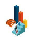 Isometric businesspeople design. Illustration eps10 graphic Stock Photo