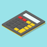 Isometric calculator without numbers Royalty Free Stock Photos