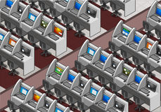 Isometric Call Center Office Stock Photos