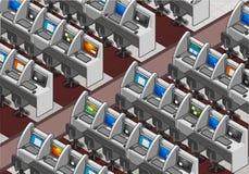 Isometric Call Center Office Stock Photos