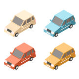 Isometric car icons Stock Image